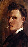 Self-Portrait with Cigarette, 1880, cross