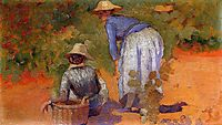 Study for The Grape Pickers, 1892, cross