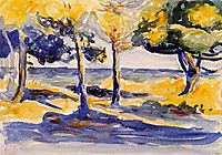 Trees by the Sea, 1907, cross