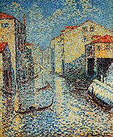 A Venetian Canal, 1905, cross