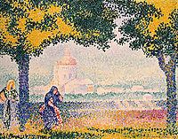 View of the Church of Santa Maria degli Angeli, near Assisi, 1909, cross