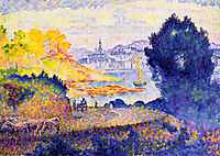 View of Menton, 1902, cross