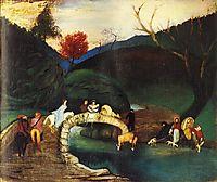 Company Passing a Bridge, 1904, csontvary