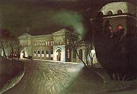 The Eastern Railway Station at Night, 1902, csontvary