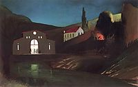Electric Station at Jajce at Night, 1903, csontvary