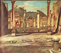Pompeji Have (House of the Chirurgus with the Vesuv), 1898, csontvary