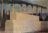 Sacrificial Stone in Baalbek, 1907, csontvary