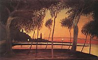 Sunset Over the Bay of Naples, 1901, csontvary