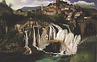 Waterfall at Jajce, 1903, csontvary