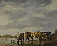 Cattle Watering by an Estuary, cuyp
