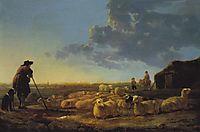 Flock of Sheep at Pasture, 1655, cuyp