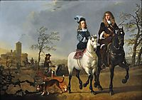 Lady and Gentleman on Horseback, 1655, cuyp