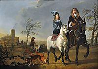 Lady and Gentleman on Horseback, 1655, cuyp