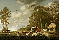 Orpheus with Animals in a Landscape, cuyp