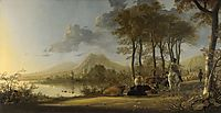 River Landscape with Horseman and Peasants, 1660, cuyp