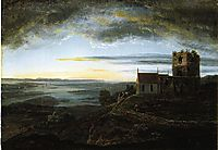 Avaldsnes church, 1820, dahl