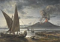 Boats on the Beach Near Naples, 1821, dahl
