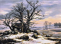 Megalith Grave in Winter, 1825, dahl