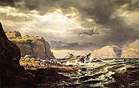 Shipwreck on the Coast of Norway, 1832, dahl