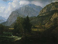 View of Fortundalen, 1836, dahl