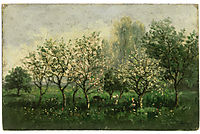 Apple Trees in Blossom, 1862, daubigny