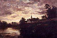 Banks of the Oise, daubigny