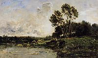 The Banks of the Oise, 1877, daubigny