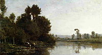The Banks of the River, 1863, daubigny