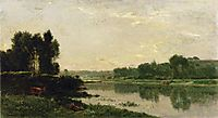 The Banks of the River, 1868, daubigny