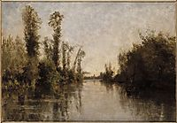 The banks of Seine, 1851, daubigny