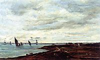 The Banks of the Thames at Eames, daubigny