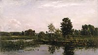 A Bend in the River Oise, 1872, daubigny