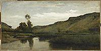 The big valley of the Optevoz, 1857, daubigny