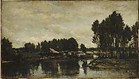 Boats on the Oise, 1865, daubigny