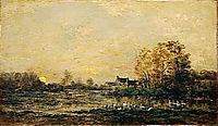 The bog in the sunset, 1861, daubigny