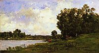 Cattle on the Bank of the River, 1872, daubigny