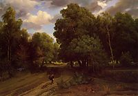 The Crossroads at the Eagle Nest, Forest of Fontainebleau, c.1844, daubigny