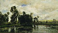 Edge of the Pond, 1873, daubigny