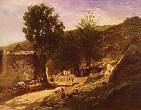 Entering The Village, daubigny