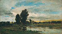 French River Scene, 1871, daubigny