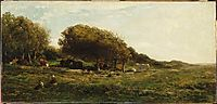 The graves of Villerville nemed also meadow with a view on the sea, 1859, daubigny