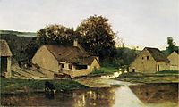 The Hamlet of Optevoz, in the morning, c.1852, daubigny