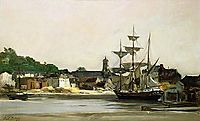 The Harbour at Honfleur, daubigny