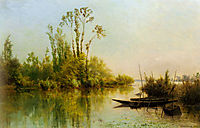 The isles Vierges A Bezons, 1855, daubigny