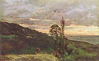 Landscape near Villerville, 1873, daubigny