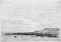 Low tide on the coast, daubigny