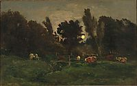 The meadow of graves in Villerville, c.1874, daubigny