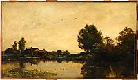 The Mill of the Gylieu, 1868, daubigny