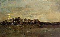 The Orchard at Sunset, daubigny