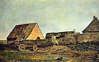 The peasant yard, 1855, daubigny